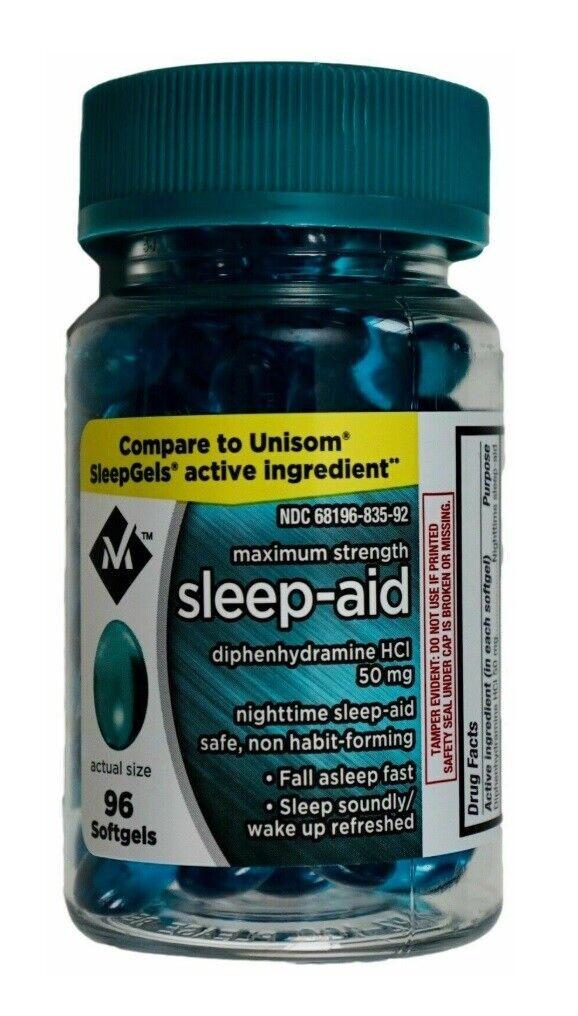 Sleep Aid Sleeping Pills Member's Mark Soft Gel 96 Ct Diphen