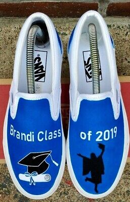 Custom Graduation Vans Personalize to your name and school color  - Personalize Shoes