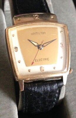 Vintage HAMILTON EVEREST #500 Electric Movement Wristwatch ~HIRSCH Watch Strap~