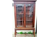Vintage Edwardian mahogany display cabinet