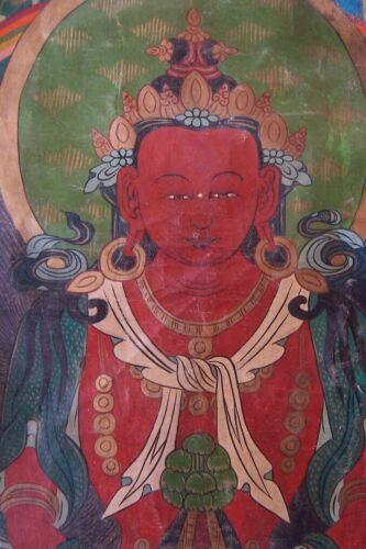 OLD Tibetan Thangka painting-RED TARA- Kurukulla-protector