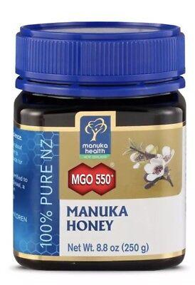Manuka Health Mgo 550  Manuka Honey 100  Pure New Zealand Honey 8 8 Oz Exp 1 21