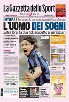 Gazzetta Dello Sport 19 Maggio 2008 Inter Vince Il Campionato Serie A - vince - ebay.it