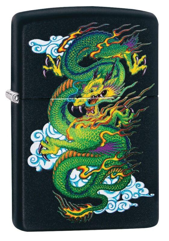 Zippo Black Matte Dragon Windproof Pocket Lighter, 29839