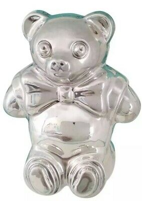 Tiffany & Co. Sterling Silver Teddy Bear Baby Rattle + Box Pouch 1994 NOS NEW (Tiffany Baby Jewelry)