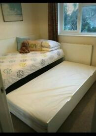 Single bed + pull out bed + mattresses