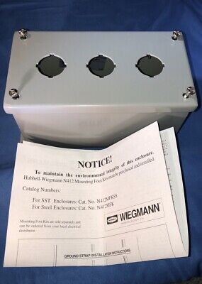 Hubbell Wiegman 3 Hole Electric Boxenclosure Pbxd3