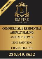Commercial and residential Asphalt Sealing& Repair