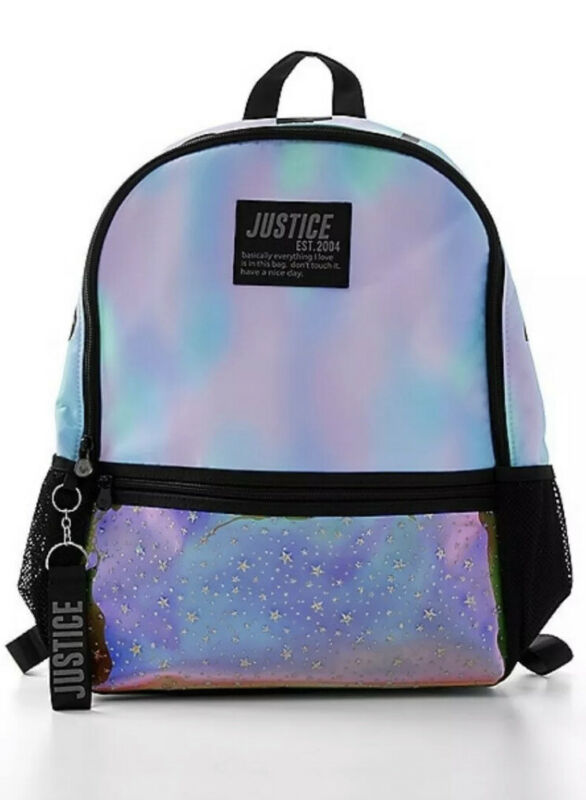 NWT Justice Dye Effect Stars Backpack