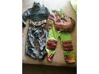 The dark knight and turtles costume age 5-6
