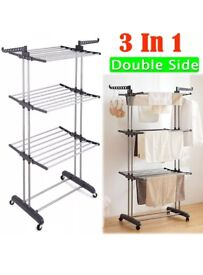 Foldable 3 tier clothes airer - New