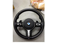 Bmw 5 series f10 f11 leather steering paddle shift auto m sport