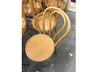 Vintage retro mid century modern thonet shabby chic style cafe kitchen dining chairs x 2 4 6 10
