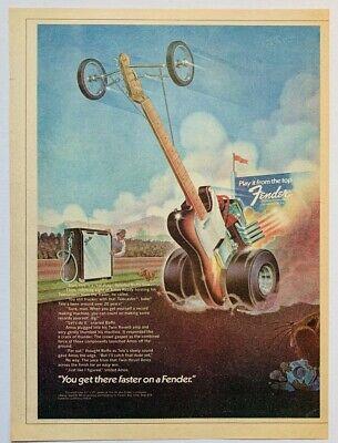 FENDER TELECASTER 1974 vintage GUITAR ADVERT Drag Race