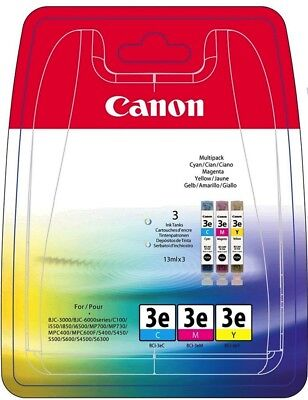 5 Pack Tinte Magenta (5x Canon Tinte BCI-3E Multipack 4480A265 cyan, magenta, gelb)