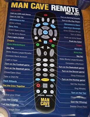 Wholesale Lot of 10 MAN CAVE REMOTE POSTERS  24