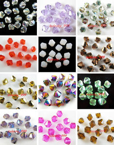 Wholesale-100-Faceted-Glass-Crystal-Finding-Loose-Bicone-Spacer-Beads-6mm-Color2