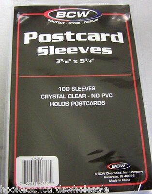 2 Packs (200) BCW Postcard Poly Sleeves Storage Holder Bags  on Rummage