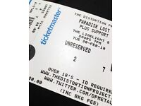 Paradise Lost Tickets (x2) - face value / ONO