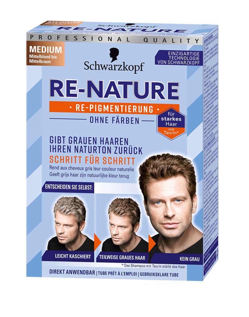 Schwarzkopf Re-Nature Re-Pigmentierung für Männer Medium ohne Färben!
