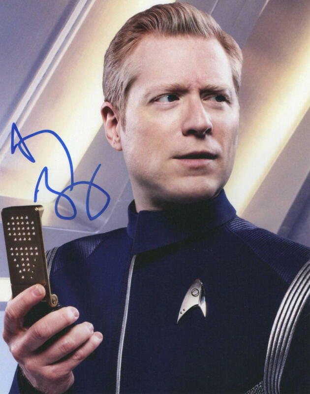 ANTHONY RAPP SIGNED 8X10 PHOTO STAR TREK DISCOVERY RENT AUTOGRAPH COA