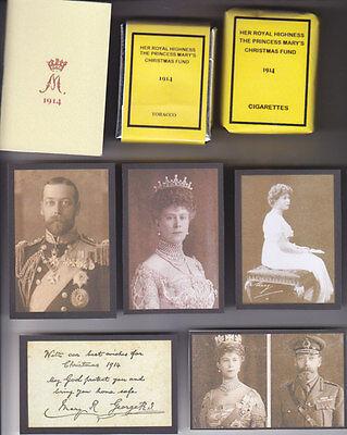 REPRODUCTION PRINCESS MARY 1914 CHRISTMAS TIN SET (NEW LOOK)
