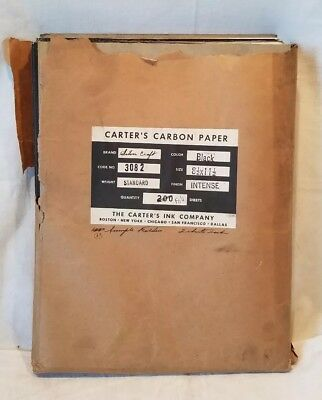 NOS Carter's Supreme Carbon Paper, 93 Sample Folders of 2 Sheets Each, No.3082