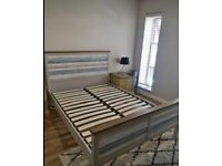 Double size bed frame by Bensons for beds with clean good mattress great condition
