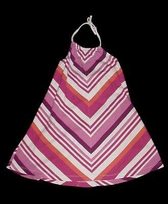 EUC Gap Kids Girls SWIM SHOP Pink Orange & White Striped Halter Dress Size S - Kids Dress Shopping