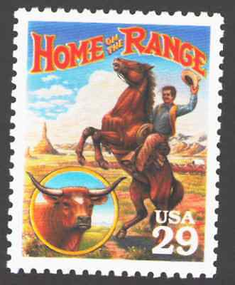 US. 2869 a. 29c. Home on the Range. Legends of the West. MNH. 1994 for sale  Shipping to India