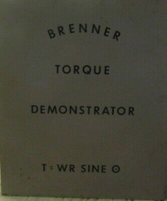 Brenner Torque Demonstrator Calibrator Wooden Box