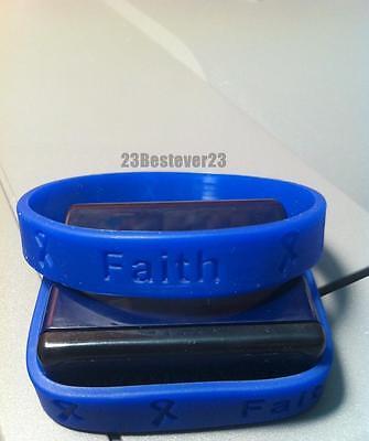 1 Dark Blue Colon Cancer Awareness Silicone ADULT Bracelet Colorectal Wristband