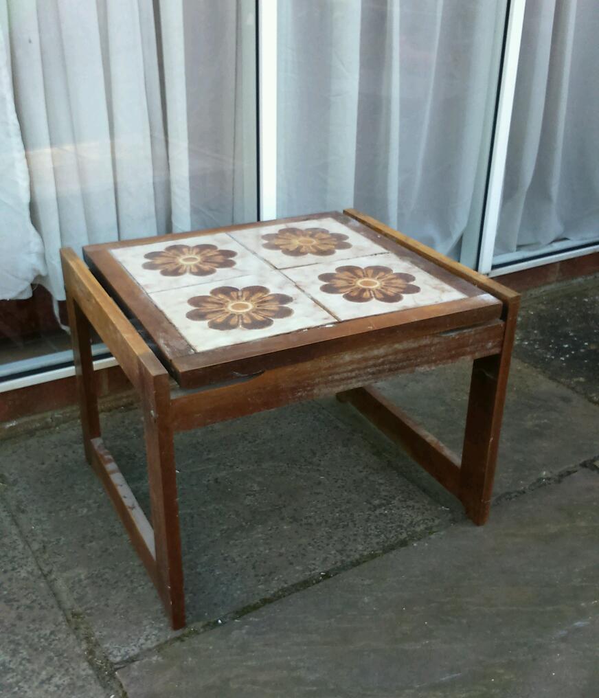 Gumtree Coffee Table Teak: Vintage 70's Tile Top Coffee Side Table