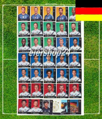 NEU Kompletter Satz REWE DFB Sammelkarten zur FUSSBALL WM 2018 alle 36 komplett