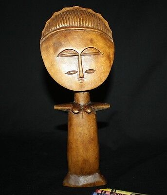 "Carved Wood Fertility Figurine African made in Ghana 10"" tall"