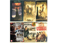 7 DVDS used Lord of the rings killer whales uncut american virgin new 800 bullet