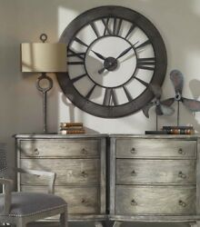 XXL 60 Farmhouse Industrial Roman Wall Clock Restoration Home Decor