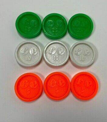 Fisher Price Shopping Cash Register Replacement Coins Complete Set