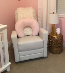 White Recliner/Glider/Rocking Chair - PERFECT CONDITION