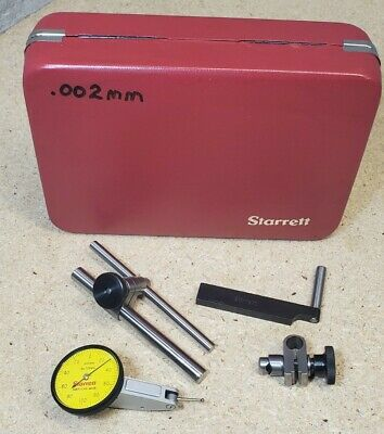 Starrett No. 708ma Dial Indicator With Accessories - Metric