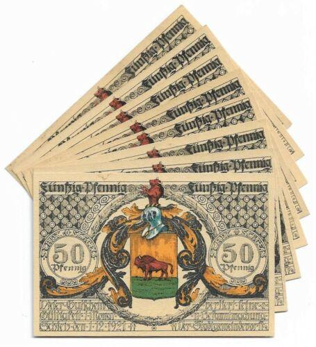**1921 SCHLEIZ Germany - FAMOUS ALCHEMIST ~ Complete Set Notgeld Banknote