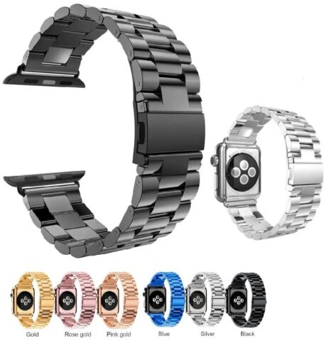 For Apple Watch Series 3/2/1 Stainless Steel Wrist iWatch Band Strap 38/42mm US Jewelry & Watches