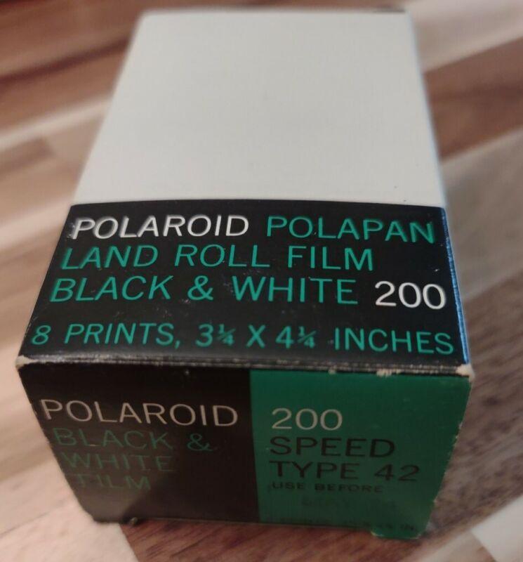 Polaroid Polapan Land Roll Film B&W 200 speed type 42 film EXP 1974 3 ¼ x 4 ¼