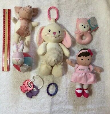 Lot 6 ps Baby Babies Girl Toy Toys Ages 3 Months Up
