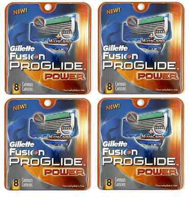 Geniune Gillette Fusion Proglide Power Razor Refill Blade...