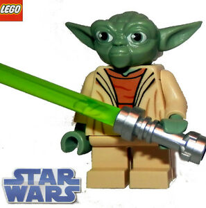 LEGO Star Wars minifig JEDI MASTER YODA with green saber