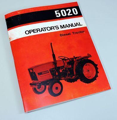 Allis Chalmers 5020 Operators Owners Manual Diesel Tractor Book Maintenance