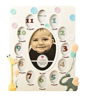 NEW Fashioncraft Baby's First Year (Newborn-1 yr) Collage Picture Frame Keepsake
