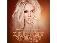 Britney Spears Ultimate upgrade plus early entrance tickets