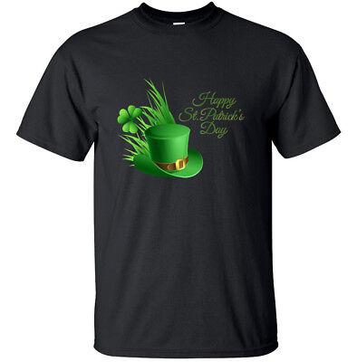 Glücklich st Patricks Tag mit Hut Bedrucktes T-Shirt Herren Damen Kinder